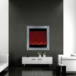 شومینه برقی دیواری هوشمند دالاس نقراه ای کد70