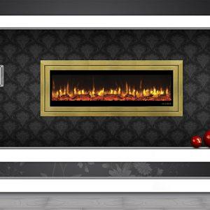 شومینه برقی دیواری هوشمند دیتون طلائی کد90