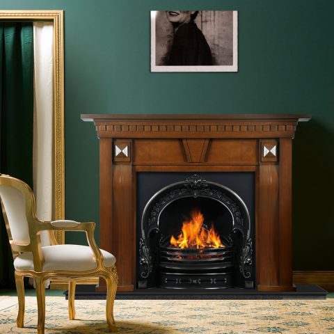 شومینه گازی کلاسیک مدل ویلیام | فریم چوبی